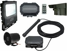 Security Floodlight & Siren Driveway Alarm with