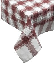 Seersucker Check 100% Cotton Pack of 4 Traditional