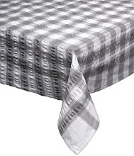 Seersucker Rectangle Checked Tablecloth Cotton