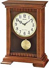 Seiko Analogue QXQ029B Table Clock with Pendulum