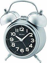Seiko Bedside Alarm Clock with Bell Alarm, Quiet