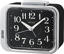 Seiko Bell Alarm Clock with Black Dial, 12 x 7.8 x