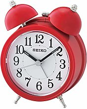 Seiko Bell Alarm Clock with Light and Snooze-Red