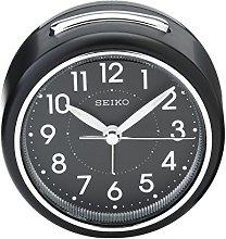 Seiko Black Round Alarm Clock