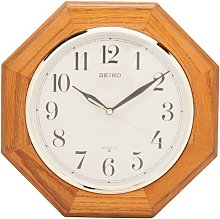Seiko Clock, oak, Med. Brown, One Size