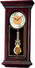 Seiko Clocks Pendulum Long Wooden Case Wall Clock