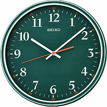 Seiko Dark Green Wall Clock with Quiet Sweep