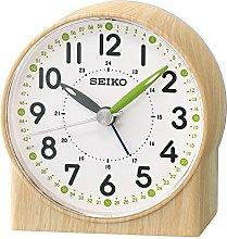 Seiko Green Lumibrite Alarm Clock with Wood