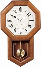 Seiko Light Oak Traditional Schoolhouse Wall Clock
