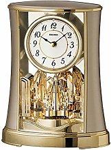 Seiko Mantel Clock with Rotating Pendulum-Gold