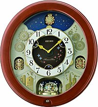 Seiko Melodies in Motion Wall Clock with Rotating