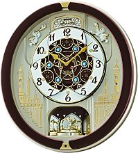 Seiko QXM291B 18-Melodies Melody in Motion Clock,
