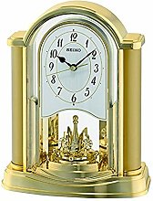 Seiko Rotating Pendulum Clock Gold, Wood, 10x20x25