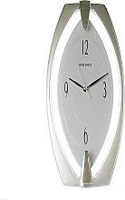 Seiko Silver Plastic Wall Clock White Dial