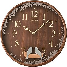 Seiko Swinging Bird Pendulum Wall Clock with