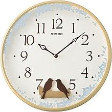 Seiko Swinging Bird Pendulum Wall Clock with Wood