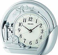 Seiko Table Clock, Silver, One Size