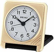 Seiko Travel Alarm Clock-Gold, Wood, 2x7x7 cm