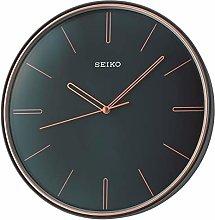 Seiko Wall Clock, Black, One Size