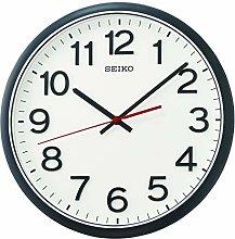 Seiko Wall Clock, Black, Standard