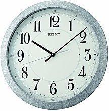 Seiko Wall Clock, Silver, Standard