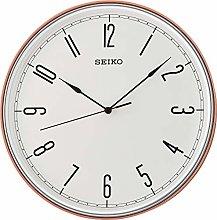 Seiko Wall Clock White Face Orange Surround QXA755R