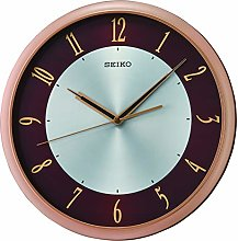 Seiko Wall Clock with Gold numerals on a Maroon