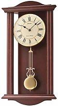 Seiko Wall Clock, Wood, Brown, 56,5 x 30 x 11,4 cm