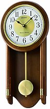 Seiko Wooden Wall Chiming Clock with Pendulum