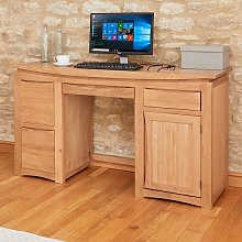 Seldon Wooden Computer Desk Rectangular In Oak