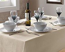 Select Plain Tablecloth, Easy Care Modern Table