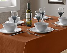 Select Round Tablecloth, Polyester, Burnt Orange,