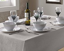 Select Round Tablecloth, Polyester, Silver, 180 x