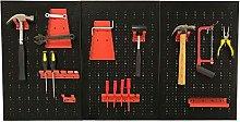 Selections Metal Peg Board Tool Organiser With 17