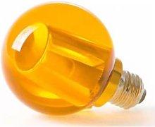Seletti - Amber LED Light Bulb Crystaled Round -