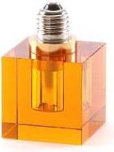 Seletti - Amber LED Light Bulb Square - glass |