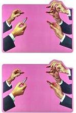 Seletti - Set of 2 X Toiletpaper Lipsticks Table
