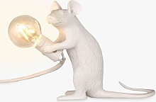 Seletti Sitting Mouse Table Lamp, White