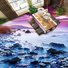 Self-Adhesive Floor Wallpaper 3D Seaside Landscape