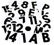 Self Adhesive Label Letters (A) (Black/White) -