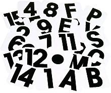 Self Adhesive Label Letters (B) (Black/White) -