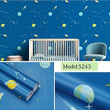 Self Adhesive Wallpaper Child Blue Space Contact