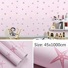 Self Adhesive Wallpaper Child Pink Stars Contact