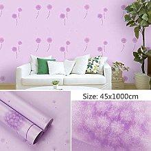 Self Adhesive Wallpaper Child Purple Dandelion