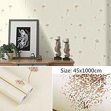Self Adhesive Wallpaper Child Yellow Dandelion