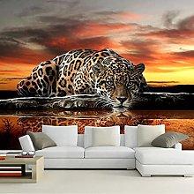 Self-Adhesive Wallpaper Silk Modern Art 3D Leopard
