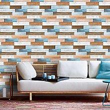 Self Adhesive Wood Wallpaper Brown Removable Wood