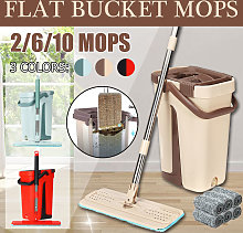 Self-Cleaning Dry Mop Bucket System Hand Wash Mop