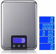 selfdepen Digital Kitchen Scale, Stainless Steel
