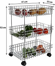 SellTag Stainless Steel 3-Tier Fruits & Vegetable